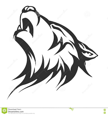 black wolf tattoo illustration illustration stock illustration