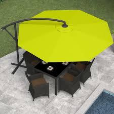 Black And White Striped Patio Umbrella by Outdoor 11 Ft Patio Umbrella With Solar Lights Bistro Umbrella