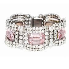 crystal pink bracelet images Fabulous weiss crystal and light pink bracelet of the 50s jpg