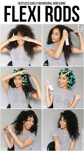 lynnette joselly heatless curls for natural hair using flexi rods