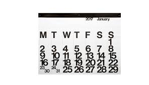 black friday calendar amazon 20 modern calendars for 2017 design milk