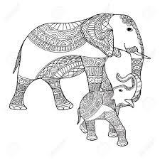Grand Et Petit éléphant Antistress Livre De Coloriage Pour Les