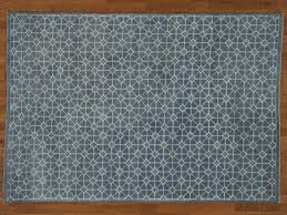 Modern Tibetan Rugs by 6 U0027 X 9 U0027 Denim Blue Modern Wool And Silk Oriental Rug Handmade