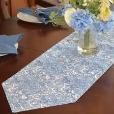 54 inch table runner table runners blue paisley print 54 inch table runner at
