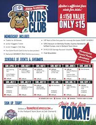 round rock express junior sluggers kids club 2016