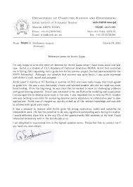 recommendation letter prof g sivakumar h o d cfdvs iit bombay