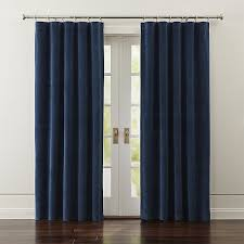 Tab Top Button Curtains Blue Velvet Curtains Crate And Barrel