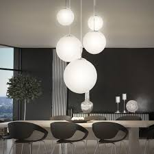 Esszimmer Lampe H Enverstellbar Dimmbar Moderne Led Pendelleuchte 5 Opal Glas Kugeln Hänge Lampe 30 Watt