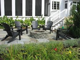 pavers patio under deck firepit patio traditional with black
