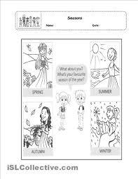 7 best images of four seasons printable kindergarten words four