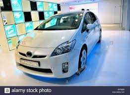 toyota new car paris france shopping in new car showroom toyota car prius
