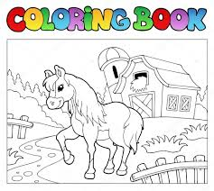 farm animal coloring book coloring book with farm and horse u2014 stock vector clairev 5204556