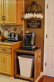 love how this diy microwave coffee u0026 pet station turned out diy