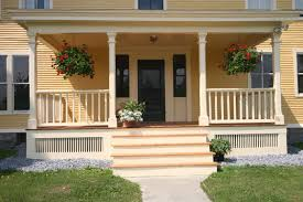 home porch my porch isn t this high but once i tear out the ugly bushes it s