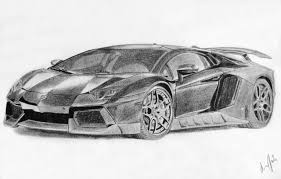 ferrari sketch lamborghini aventador black and white drawing lamborghini car