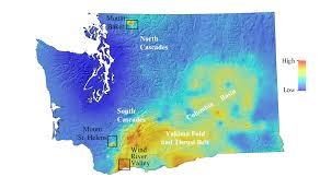 Yakima Washington Map by Geothermal Favorability Map For Washington State Us Think