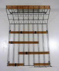 steel wire u0026 rattan wall coat rack 69344