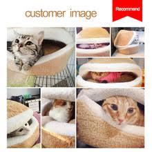 hoopet warm cat bed house hamburger bed disassemblability
