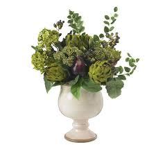 silk flower arrangements artichoke and hydrangea silk flower arrangement nearly