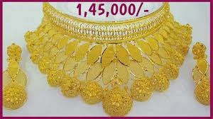 golden necklace new design images Light weight designer gold necklace 2018 latest jewellery jpg