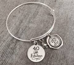 Birthday Charm Bracelet 40 And Fabulous 40th Birthday Birthday Charm By Sajolie On Zibbet