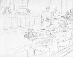 final courtroom sketch art top shelf productions