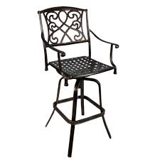 outdoor cast aluminum swivel bar stool patio furniture antique