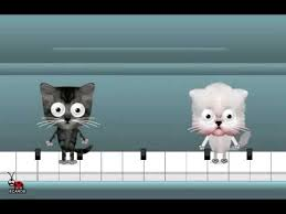 happy birthday free ecards animated cats on a piano