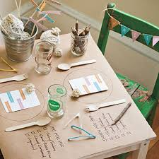 simple thanksgiving table setting butcher paper small tables