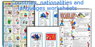 english teaching worksheets countries nationalities and languages