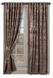 best 25 southwestern curtain rods ideas on pinterest saguaro desert curtain set has a southwestern look and feel with its coloration and design superb graduation of color creates geometric designs for an
