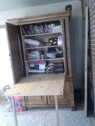 diy craft armoire with fold out table diy craft armoire w fold out table you can still use the selves