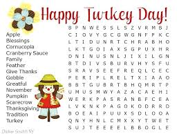 thanksgiving crossword printable key coloring page printable