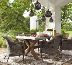 Pottery Barn Patio Table Outdoor Collection Pottery Barn In Wicker Furniture Design 8