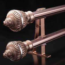 Copper Curtain Rod Brackets Jog 28 Red Copper And Aluminum Curtain Rod Bracket Rome Bar Single