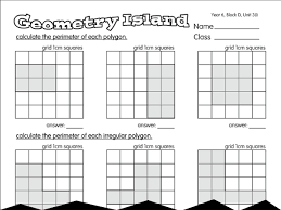 estimation island a year 6 area and perimeter worksheet