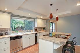 second kitchen furniture second floor kitchen boasts tray ceiling island stock image image