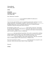 letter of recommendation formats