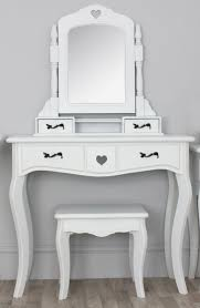 Mirrored Vanity Table Varnished Wooden Vanity Dressing Table With Rectangular Mirror And