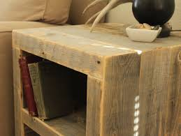 reclaimed wood end table reclaimed wood side table night stand end table modern side