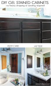 diy gel stain cabinets no heavy sanding or stripping maison