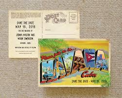 postcard save the date vintage large letter postcard save the date cuba