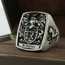men s rings made mens ring signet ring custom crest ring by 3dheraldry
