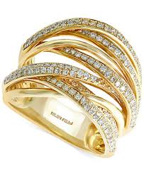 rings gold images Effy diamond overlap ring 3 4 ct t w in 14k white gold yellow tif