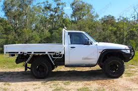 white nissan truck nissan patrol gu ute white 64133 superior customer vehicles