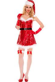 santa dress womens christmas sequin fur dress with gift bag santa costume