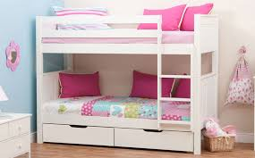 Stompa Classic White Bunk Bed Without Drawers Only - Small single bunk beds