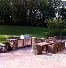 backyard bbq grills patio traditional with wicker chairs porcelain