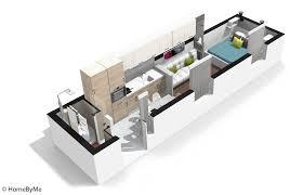 am駭agement chambre en longueur visite en 3d d un studio ultra fonctionnel décoration