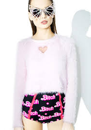 one spo one spo heart warm knit top dolls kill